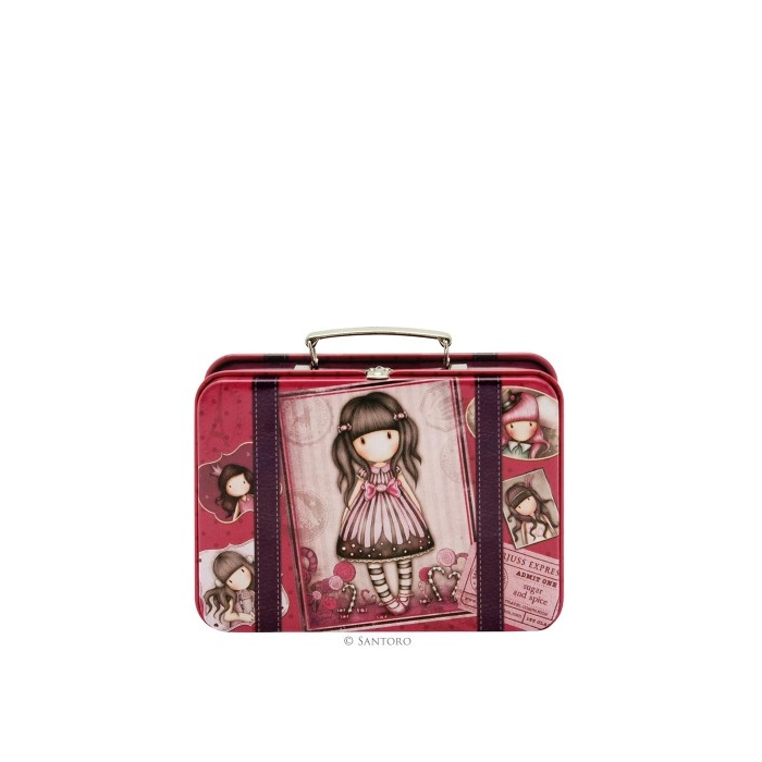 SANTORO GORJUSS suitcase tin- sugar and spice 697GJ01