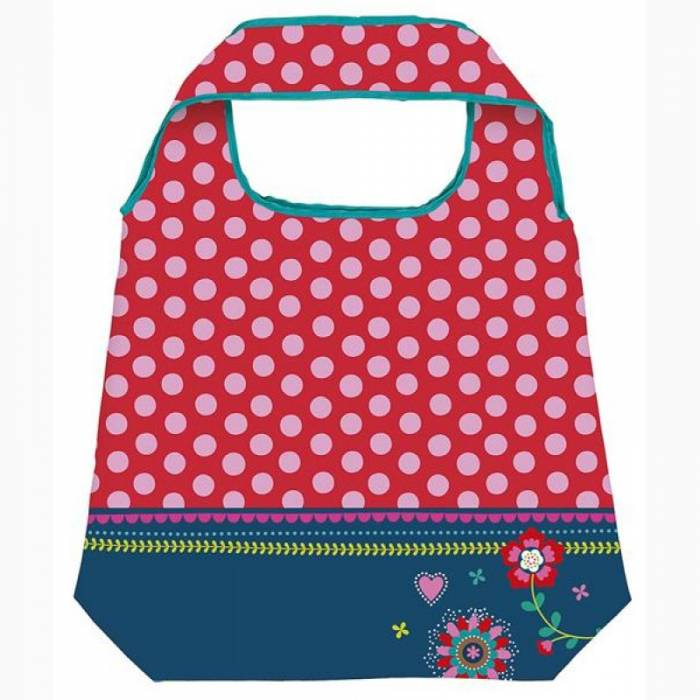 MOSES shopping bag flowers and dots 82900