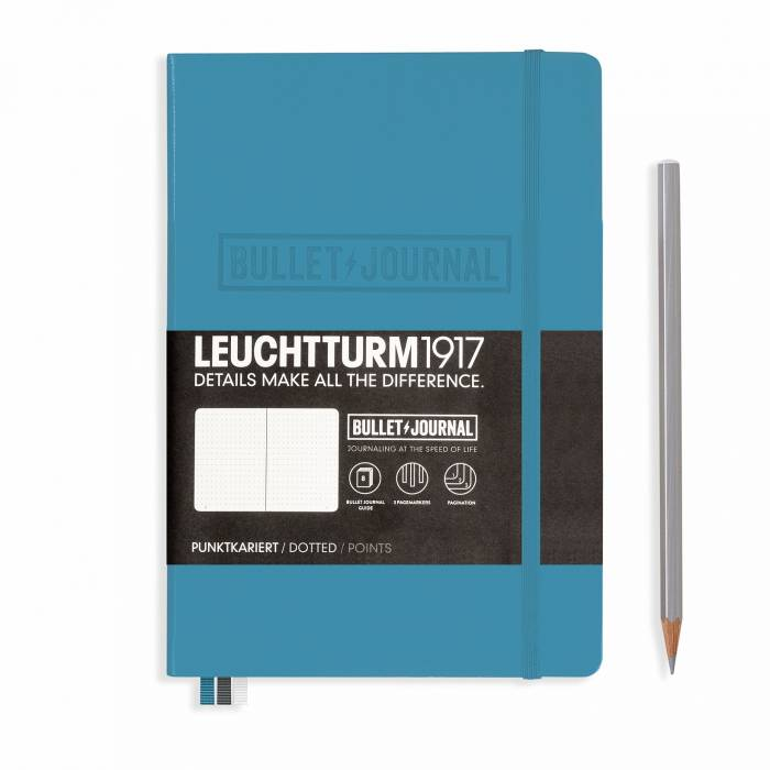 Σημειωματάριο LEUCHTTURM A5 dot bullet journal nordic blue